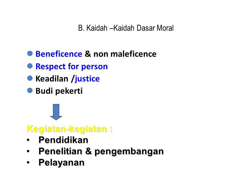 B. Kaidah –Kaidah Dasar Moral