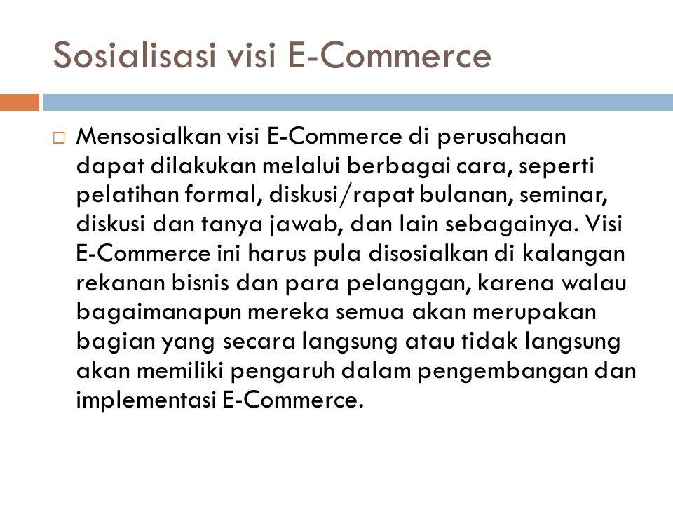 Sosialisasi visi E-Commerce