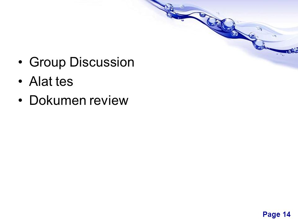 Group Discussion Alat tes Dokumen review