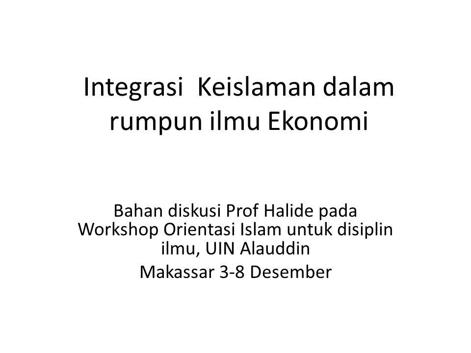 Integrasi Keislaman dalam rumpun ilmu Ekonomi