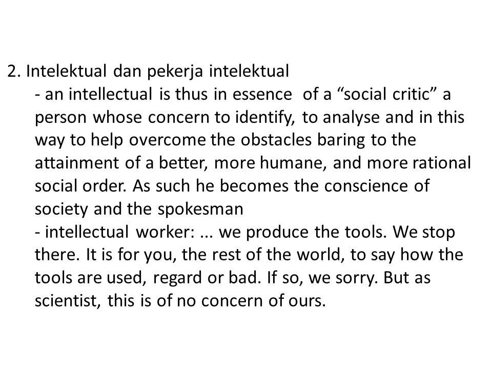 2. Intelektual dan pekerja intelektual