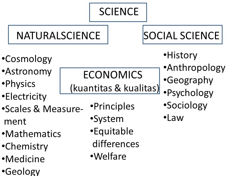SCIENCE NATURALSCIENCE SOCIAL SCIENCE ECONOMICS History Cosmology