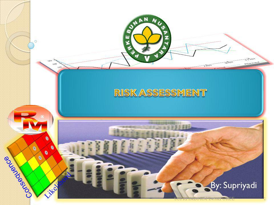 RISK ASSESSMENT By: Supriyadi Consequence Likelihood
