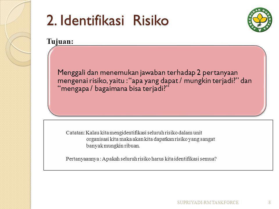 2. Identifikasi Risiko Tujuan: