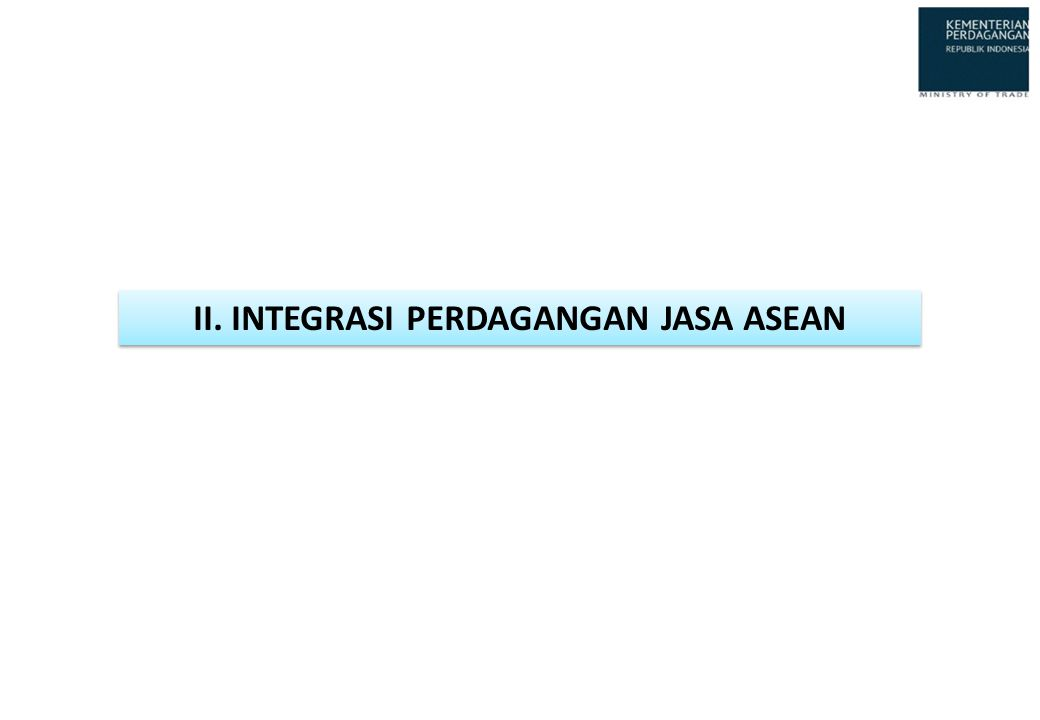 II. INTEGRASI PERDAGANGAN JASA ASEAN