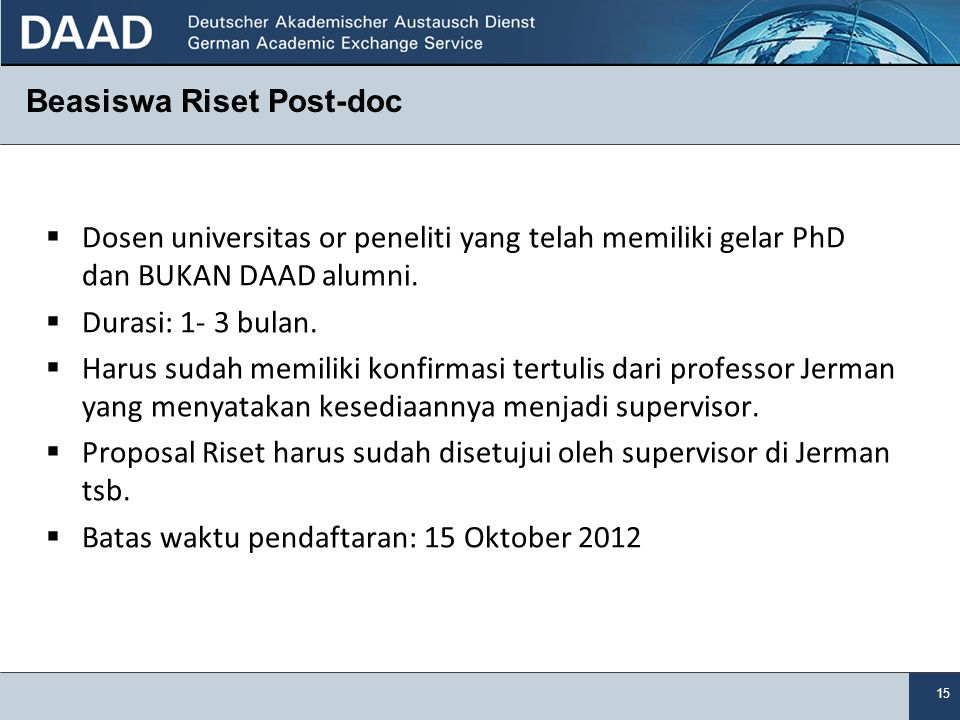 Beasiswa Riset Post-doc