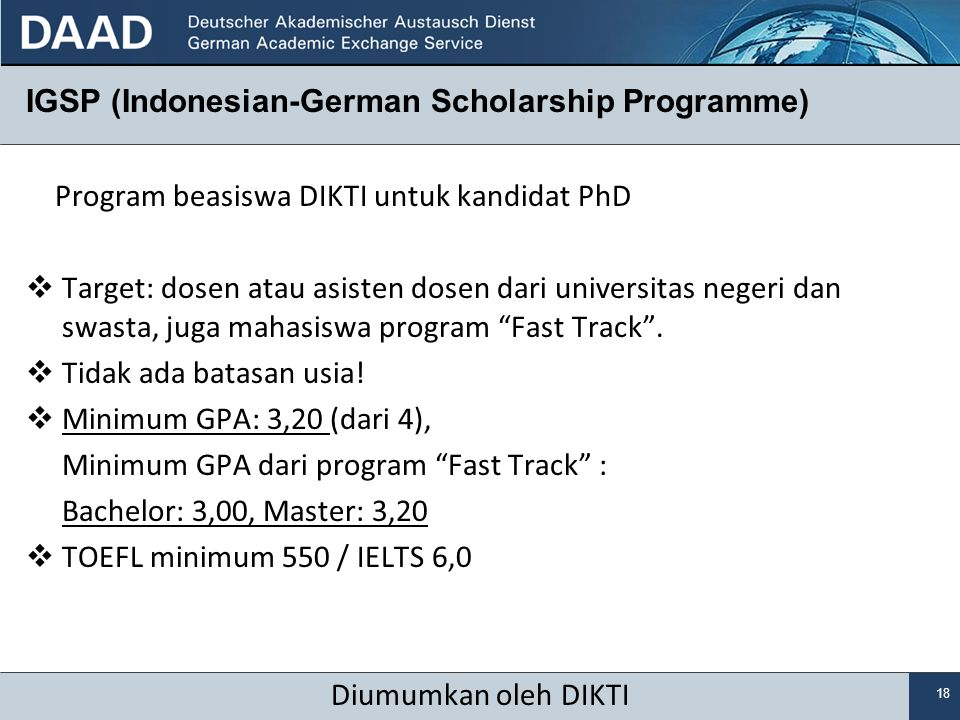IGSP (Indonesian-German Scholarship Programme)