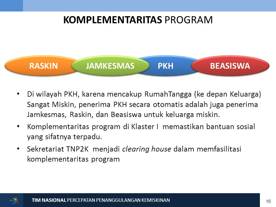 PRIORITAS JANGKA PENDEK–MENENGAH TNP2K