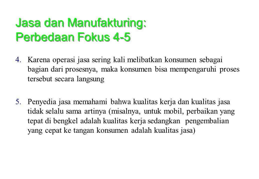Jasa dan Manufakturing: Perbedaan Fokus 4-5