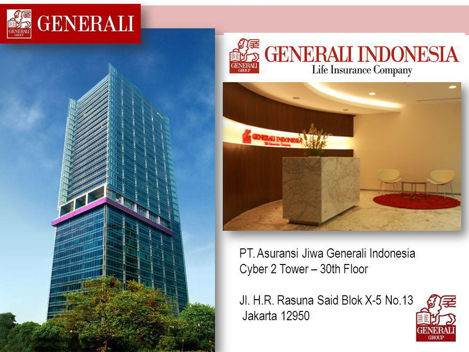 PT. Asuransi Jiwa Generali Indonesia Cyber 2 Tower – 30th Floor