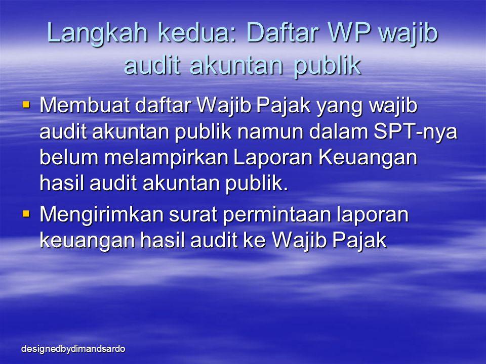 Langkah kedua: Daftar WP wajib audit akuntan publik