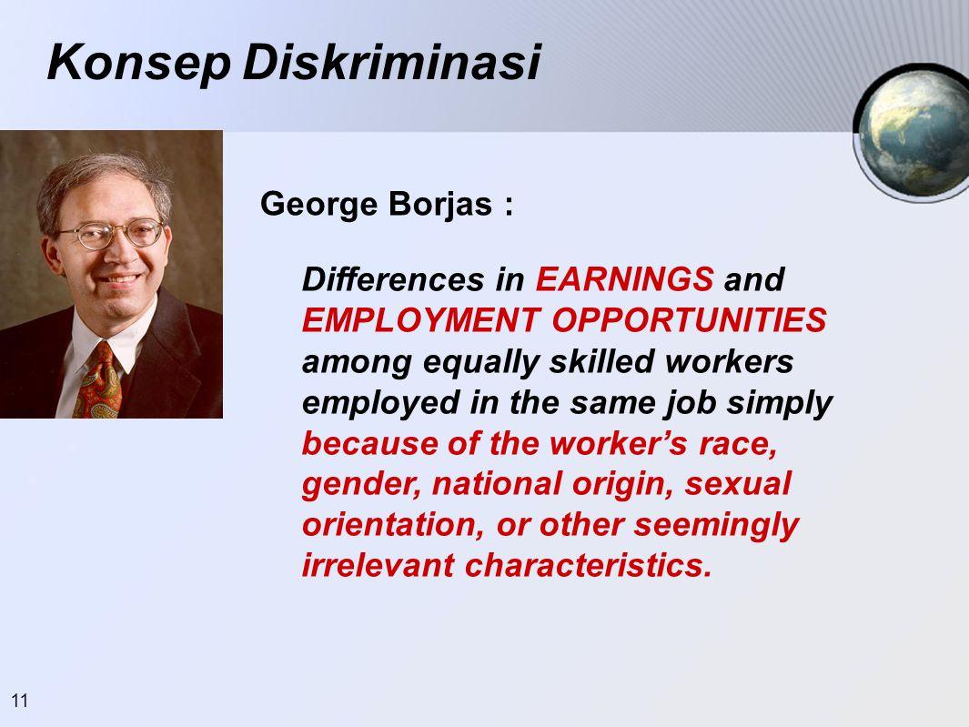 Konsep Diskriminasi George Borjas :