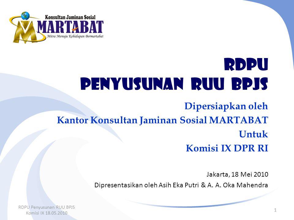 RDPU penyusunan ruu BPJS
