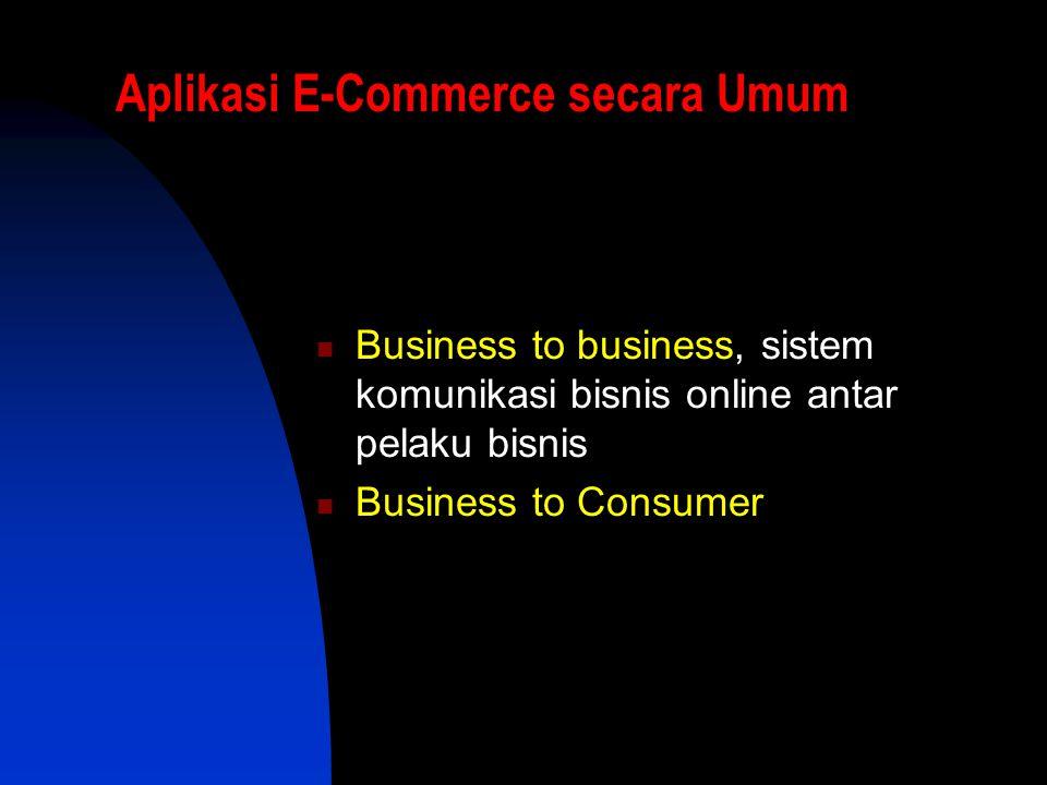 Aplikasi E-Commerce secara Umum