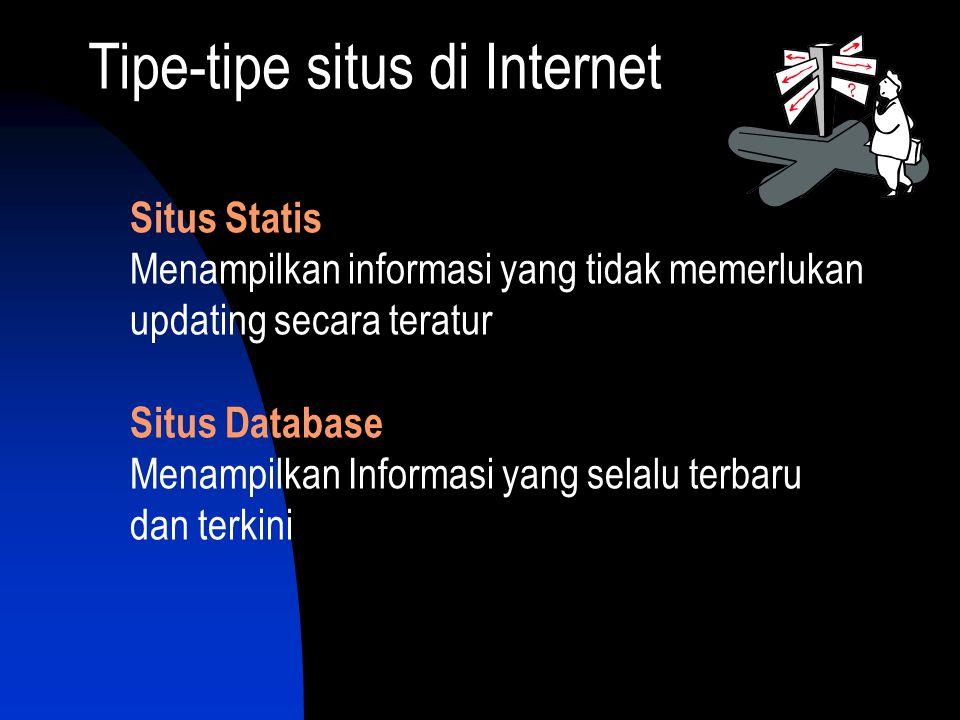 Tipe-tipe situs di Internet