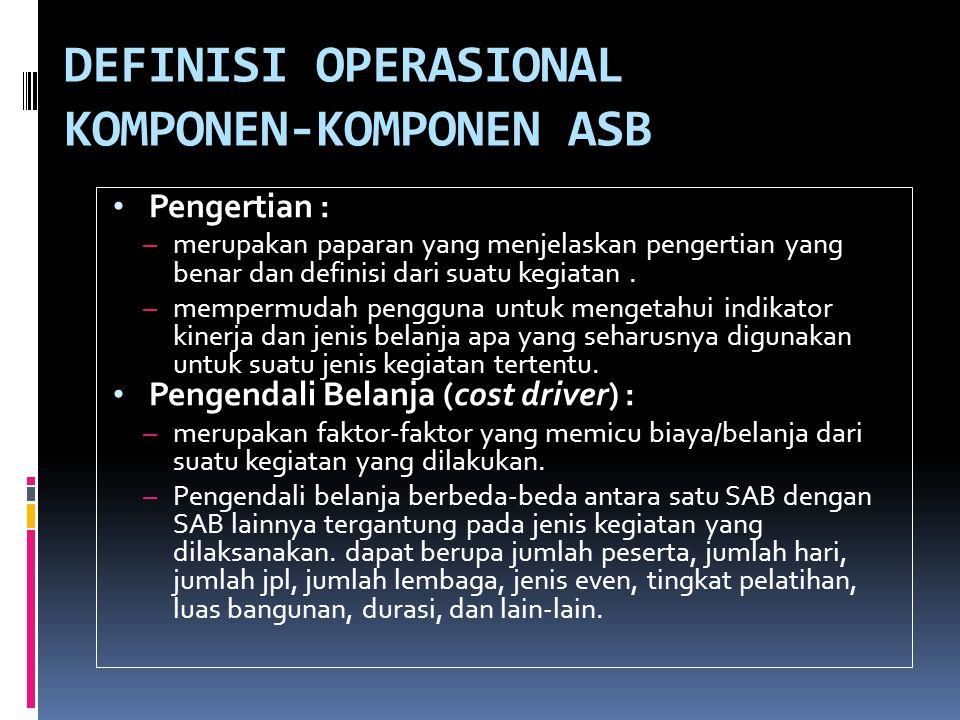 DEFINISI OPERASIONAL KOMPONEN-KOMPONEN ASB