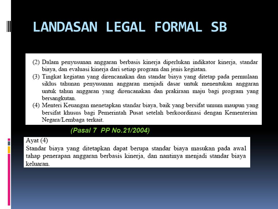 LANDASAN LEGAL FORMAL SB