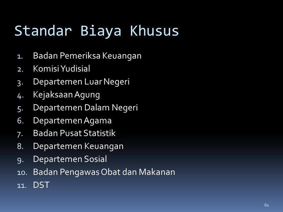 Standar Biaya Khusus Badan Pemeriksa Keuangan Komisi Yudisial