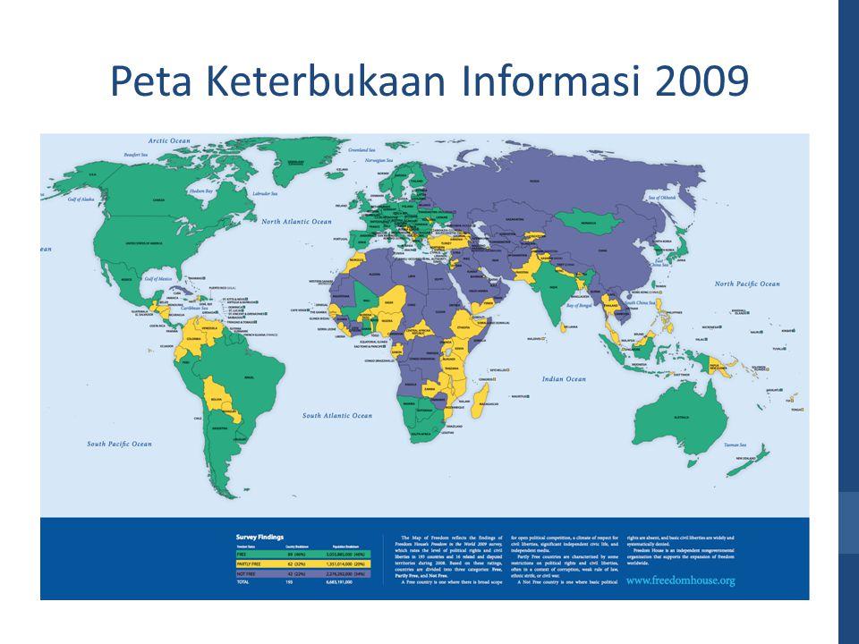 Peta Keterbukaan Informasi 2009