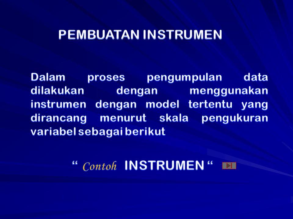 PEMBUATAN INSTRUMEN Contoh INSTRUMEN