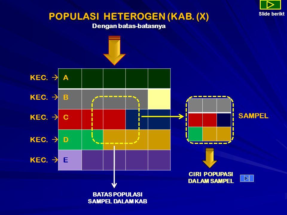 POPULASI HETEROGEN (KAB. (X) Dengan batas-batasnya