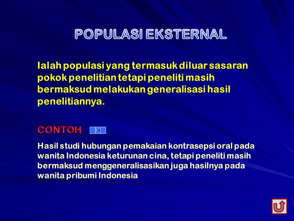 POPULASI EKSTERNAL