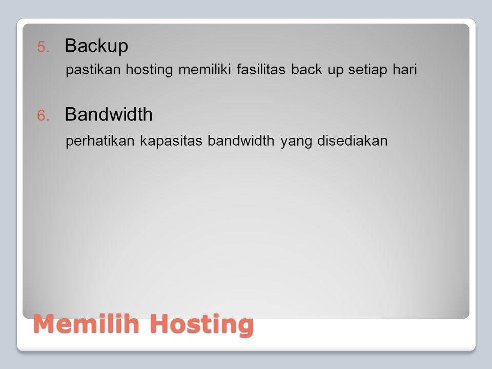 Memilih Hosting Backup Bandwidth
