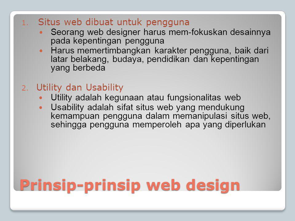 Prinsip-prinsip web design