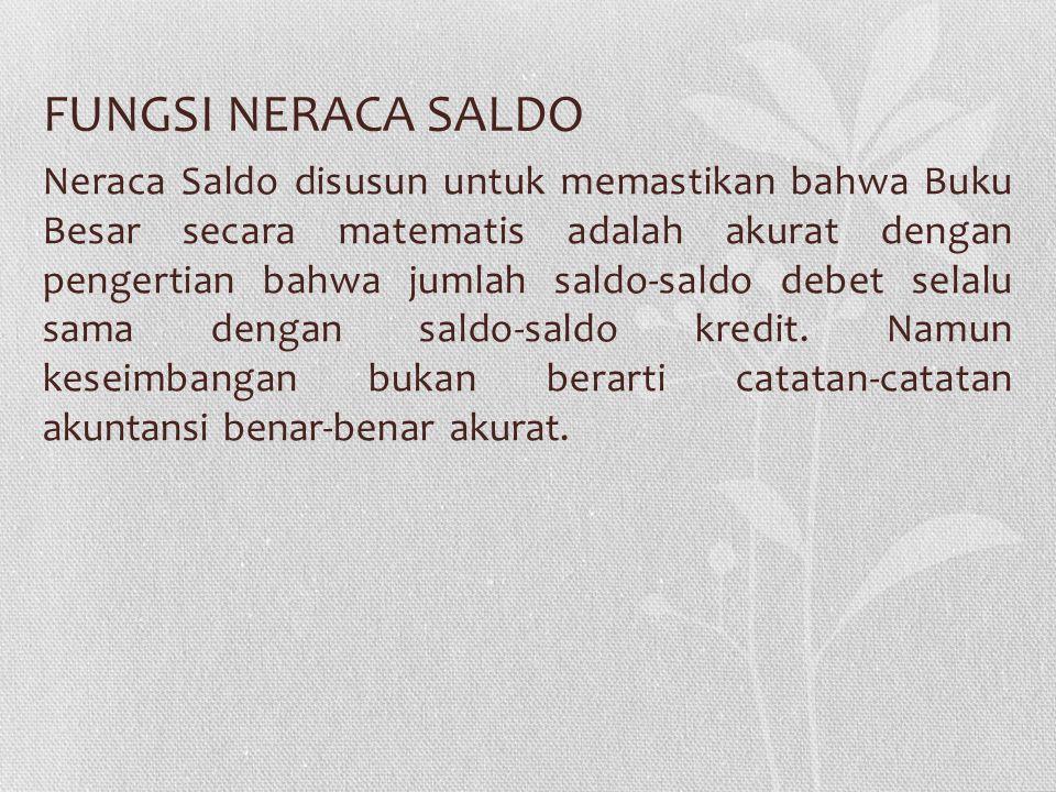 FUNGSI NERACA SALDO