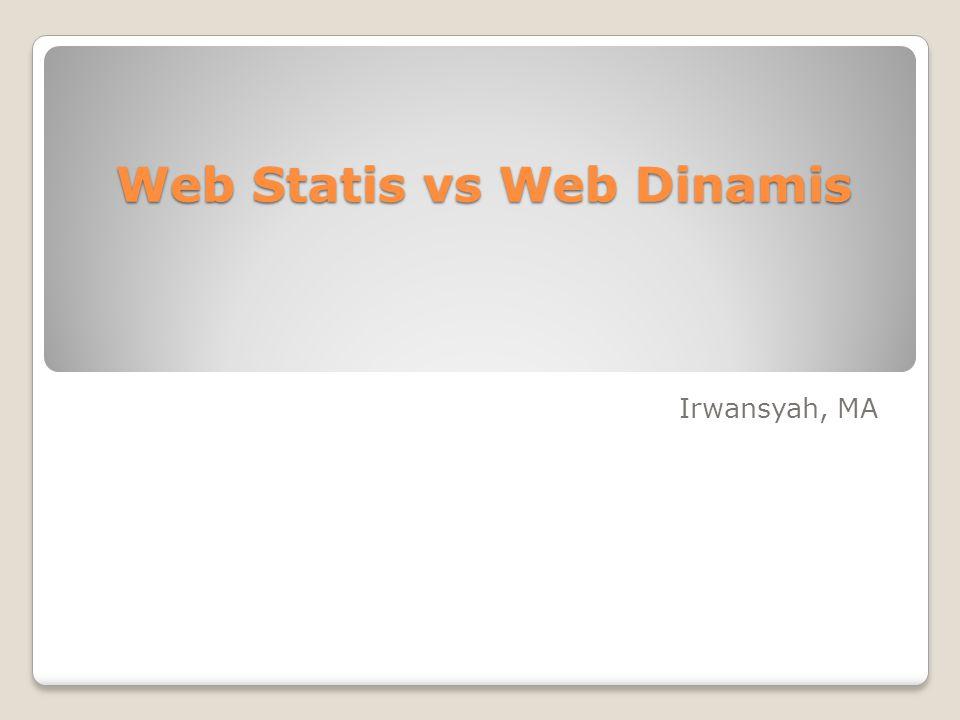 Web Statis vs Web Dinamis