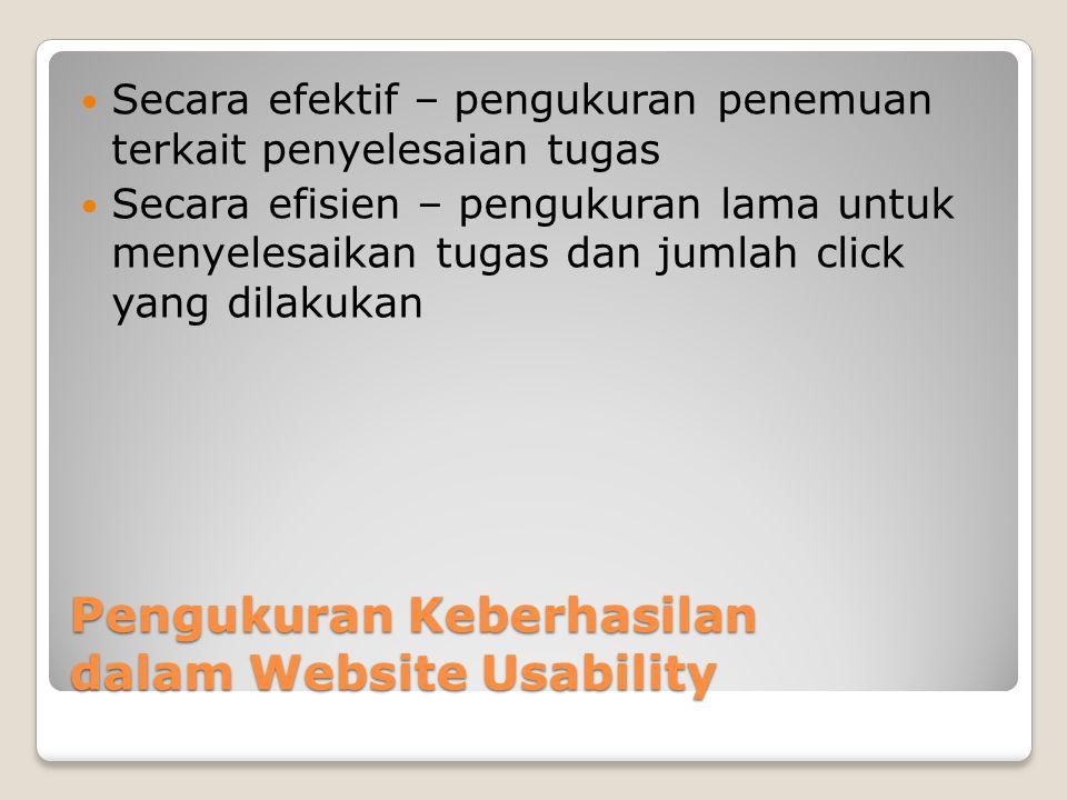 Pengukuran Keberhasilan dalam Website Usability