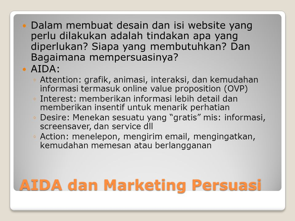AIDA dan Marketing Persuasi