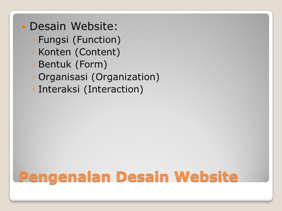 Pengenalan Desain Website