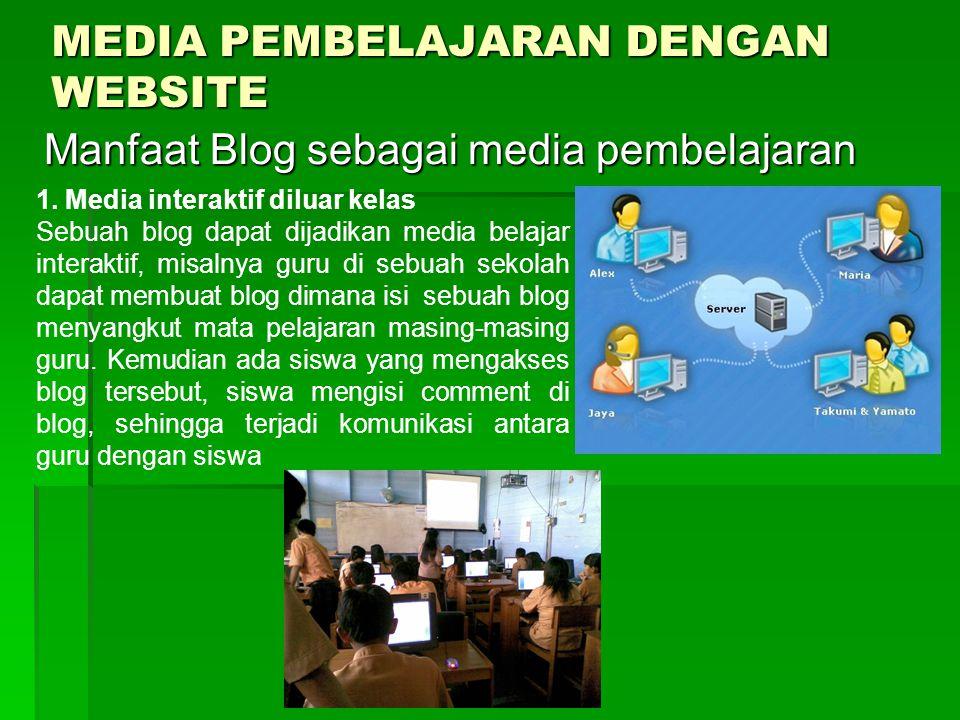 MEDIA PEMBELAJARAN DENGAN WEBSITE