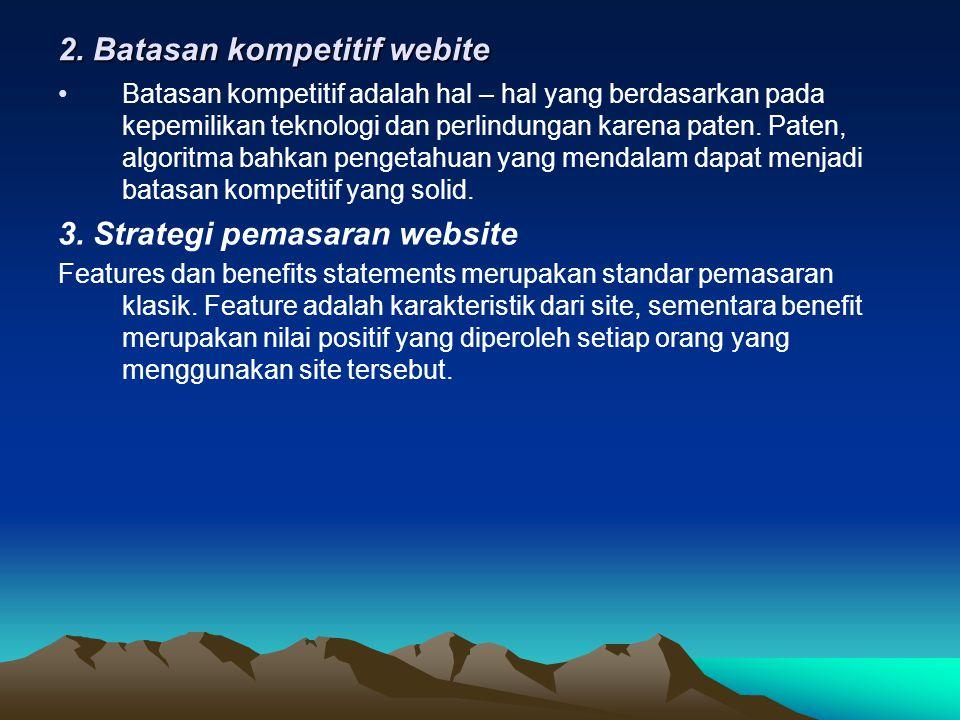 2. Batasan kompetitif webite