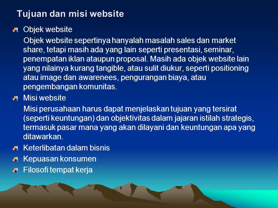 Tujuan dan misi website