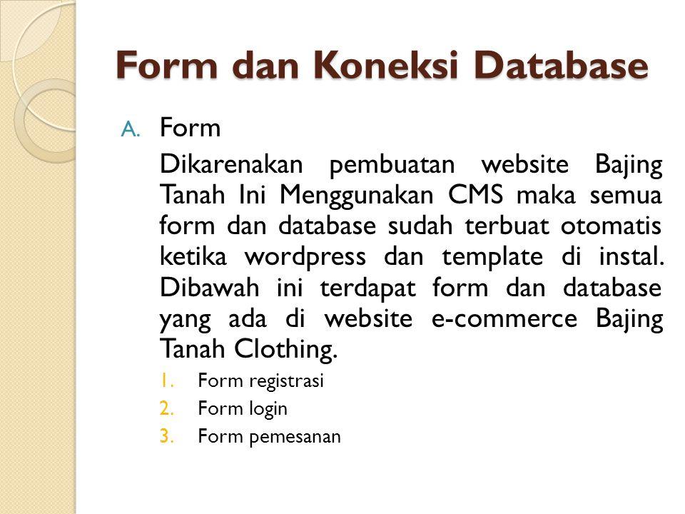Form dan Koneksi Database