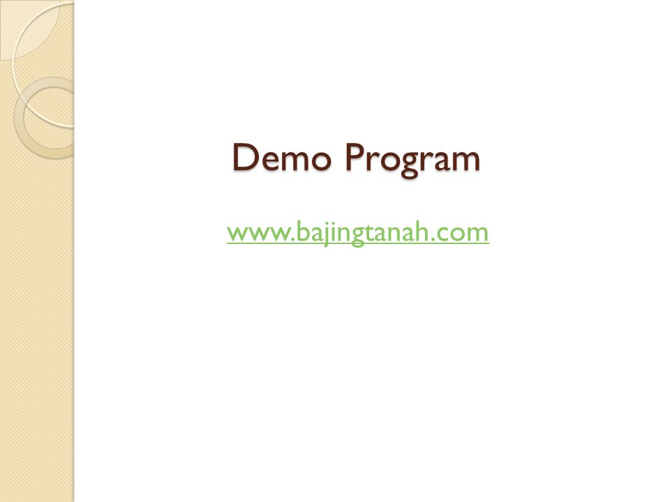 Demo Program www.bajingtanah.com