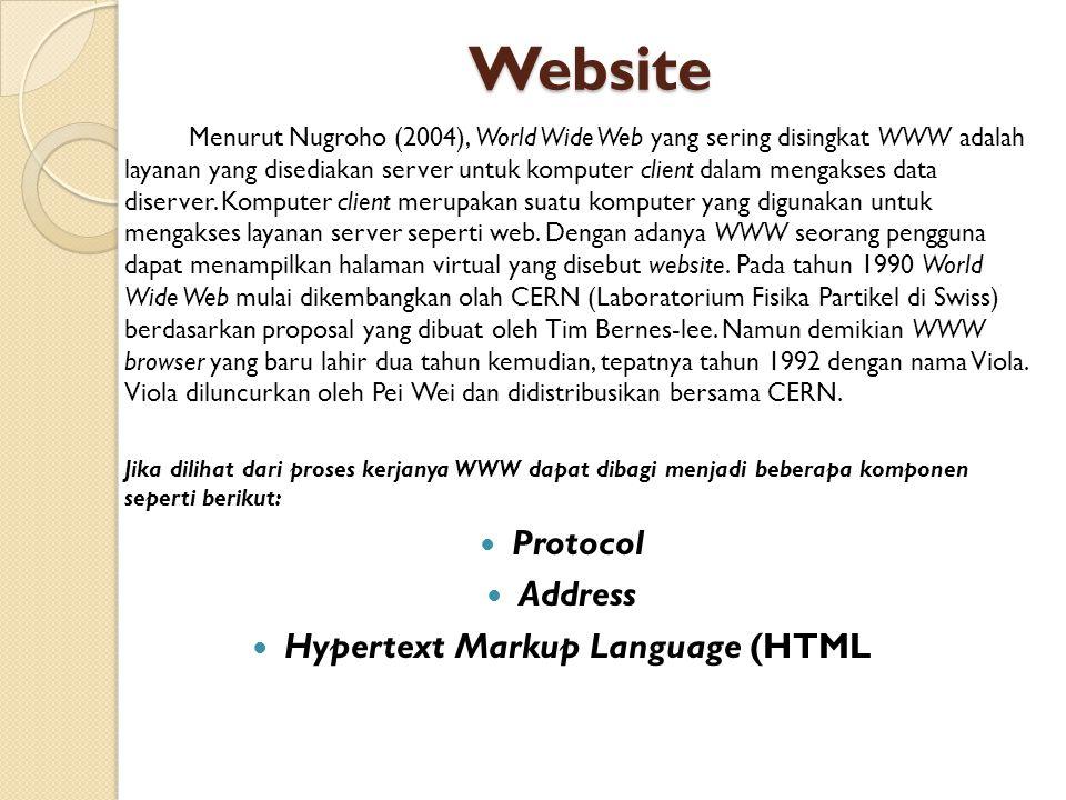 Hypertext Markup Language (HTML