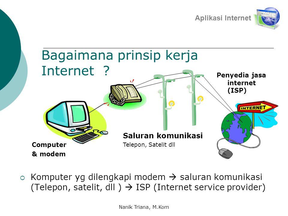 Bagaimana prinsip kerja Internet