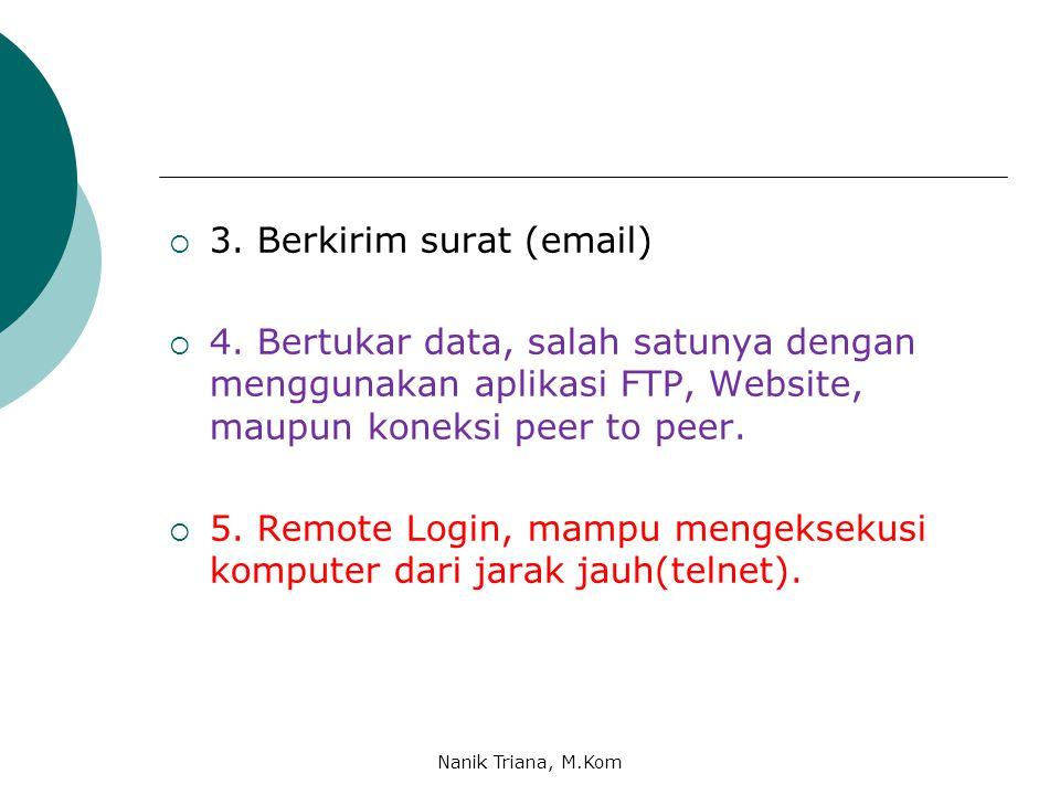 3. Berkirim surat (email)