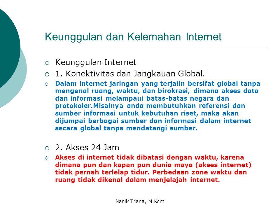 Keunggulan dan Kelemahan Internet