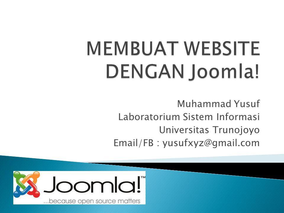 MEMBUAT WEBSITE DENGAN Joomla!