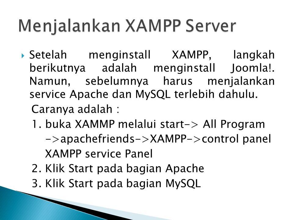 Menjalankan XAMPP Server