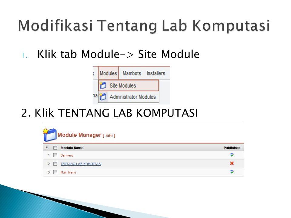 Modifikasi Tentang Lab Komputasi