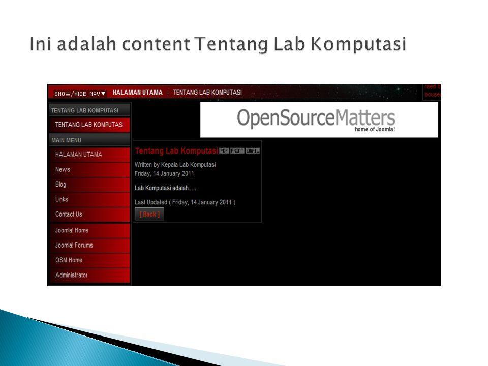 Ini adalah content Tentang Lab Komputasi