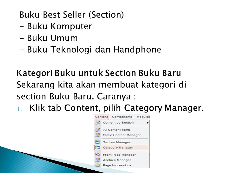 Buku Best Seller (Section)