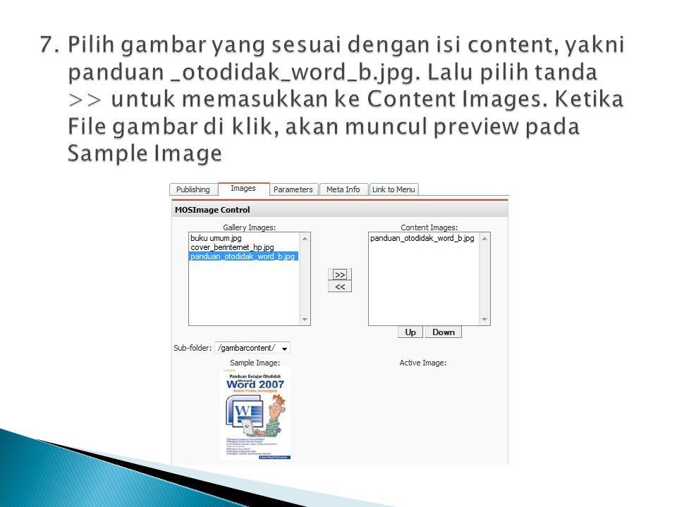7. Pilih gambar yang sesuai dengan isi content, yakni panduan _otodidak_word_b.jpg.