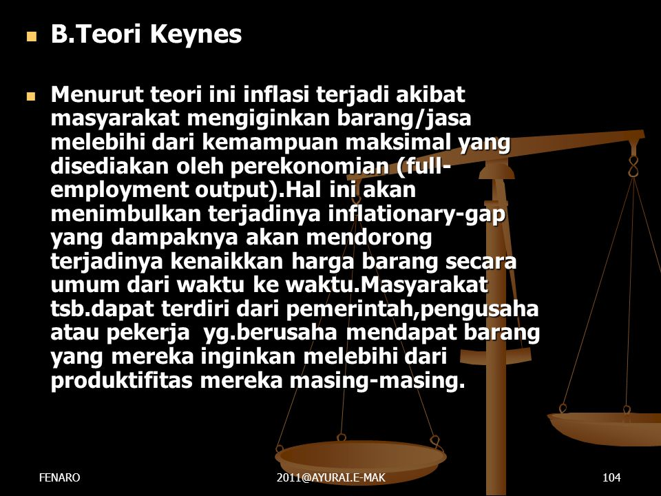 B.Teori Keynes