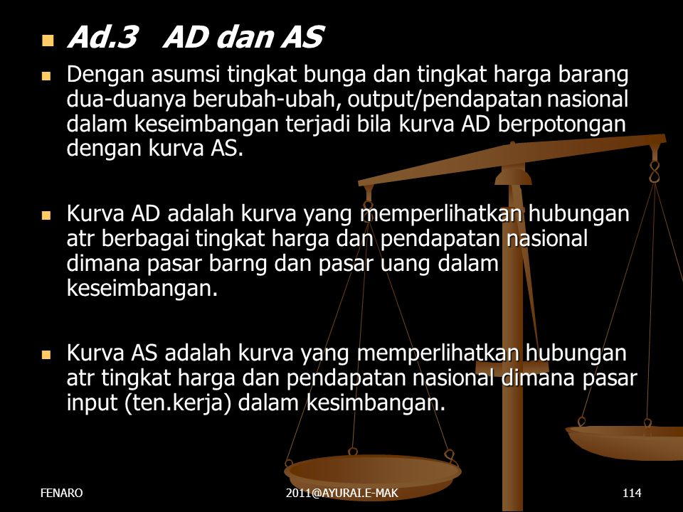 Ad.3 AD dan AS